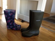 rubber boots for rain and beach from Carrefour