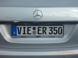 German license plates