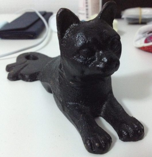 Black cat door stop