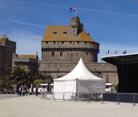 Castle with marque in the foreground